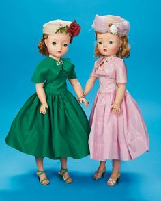 The Fabulous Fifties - Modern Dolls: 52 Cissy in Shell-Pink Taffeta Afternoon Ensemble by Alexander,Mid-1950s