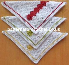 Free crochet pattern Dishcloth USA