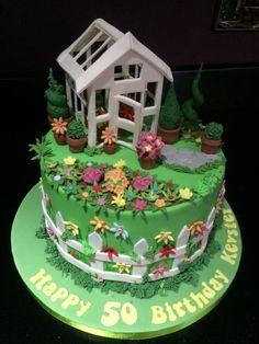 Gardeners delight - Cake by Andrias cakes scarborough Garden Birthday Cake, 60th Birthday Cakes, Allotment Cake, Vegetable Garden Cake, Housewarming Cake, Bolo Floral, Retirement Cakes, Garden Cakes, Spring Cake