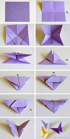 origami butterflies how to make a paper butterfly easy origami . - - origami butterflies how to make a paper butterfly easy origami … 2019 Origami-Schmetterlinge wie man einen Papierschmetterling einfach macht Origami … Origami Design, Instruções Origami, Paper Crafts Origami, Paper Crafting, Origami Ideas, Paper Folding Crafts, Origami Folding, Paper Oragami, Origami Lily