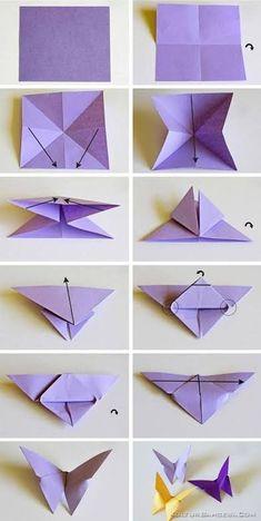 origami butterflies how to make a paper butterfly easy origami . - - origami butterflies how to make a paper butterfly easy origami … 2019 Origami-Schmetterlinge wie man einen Papierschmetterling einfach macht Origami … Origami Design, Instruções Origami, Paper Crafts Origami, Paper Crafting, Paper Folding Crafts, Origami Ideas, Origami Folding, Paper Oragami, Origami Lily