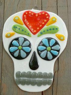 Dia de los Muertos Sugar Skull (Day of the Dead) | ArtGlassOdyssey - Glass on ArtFire