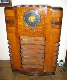 EXTREME RARITY FABULOUS 1936 CROSLEY WLW SUPER POWER RADIO TUBE CONSOLE RESTORED