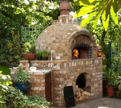 Comment construire un barbecue en brique- guide et photos How to build a handy brick barbecue guide and photos Brick Oven Outdoor, Pizza Oven Outdoor, Outdoor Cooking, Outdoor Entertaining, Brick Bbq, Wood Fired Oven, Wood Fired Pizza, Wood Oven, Wood Pizza