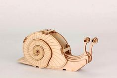 Laser Cut Plywood Snail by TheLLamaBarn on Etsy