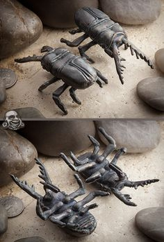 Limited  Solid oxidized bronze Staghorn Beetle weights