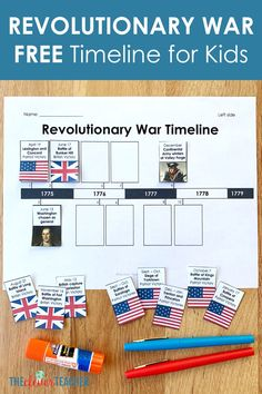 free revolutionary war timeline for kids You are in the right place about historical events history Here we offer you the most beautiful pictures about the historical events you are looking for. Teaching Us History, History Activities, History Education, History Classroom, Art Education, Middle School History, Education Middle School, Elementary Teacher, Elementary Art