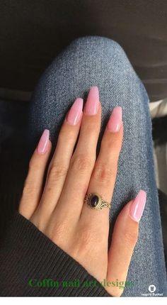 Pink acrylic nails, Acrylic nails coffin, Coffin nails Short acrylic nails, Coffin nails designs, Nails - natural summer nail designs you must see and try page 2 - Best Acrylic Nails, Acrylic Nail Designs, Acrylic Art, Light Pink Acrylic Nails, Acrylic Nail Shapes, Acrylic Nails For Fall, Light Nails, Simple Acrylic Nails, Acrylic Colors
