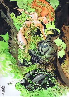 Batman seduced by Poison Ivy by Ted Naifeh