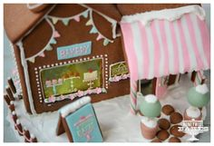 shopping store gingerbread house | gingerbread bakery shop house