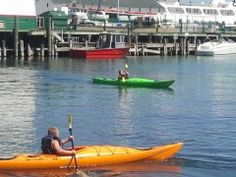 Our Marina Tour is perfect for beginners! Enjoy the Yacht Races up close! Book Now @ http://mackinackayak.com #kayak