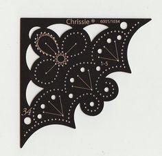 Chrissie Embroidery Stencil Flower Corner