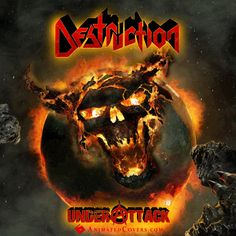 Destruction - Under Attack (animated cover artwork) #destruction #underattack #thrashmetal #metal #heavymetal #deathmetal #speedmetal #blackmetal #metalheads #powermetal #animatedcovers #gifs #gifcovers