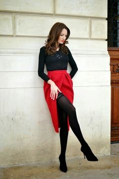 Super-Hot date-night outfit ideas - fashion style magazine meias, atrizes, Date Outfits, Sexy Outfits, Girl Outfits, Fashion Outfits, Sexy Date Outfit, Blue Skirt Outfits, Black Outfits, Valentine Outfits For Women, Cute Valentines Day Outfits