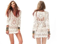 crochet...Gorgeous!  Um, but of course I wouldn't wear it by itself...at least not in public!  :)