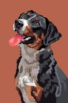 Fiverr freelancer will provide Illustration services and draw illustration animal pet cartoon portrait vector art including High Resolution within 1 day Indian Art Paintings, Animal Paintings, Animal Drawings, Poster Color Painting, Polygon Art, Drawing Wallpaper, Dog Illustration, Arte Pop, Dog Portraits