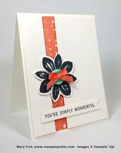 Stampin up stamping stampinup pretty mary fish saleabration simply wonderful