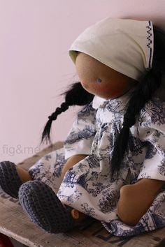 Rowan, a handmade cloth doll