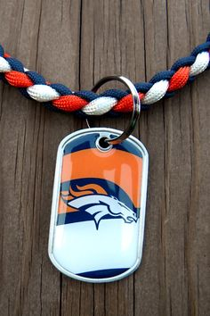 Denver Broncos Team Paracord Necklace with a NFL by knotcreations, $16.00