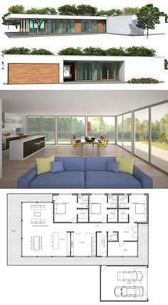 Modern Architecture, House Plan from ConceptHome.com, floor plan.