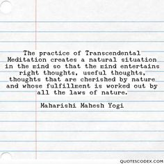 The practice of Transcendental Meditation is great for your brain, thoughts, action, achievement and fulfillment :) http://tm-women.org/benefits-mind-healthy-brain/