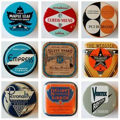 Pure retro inspiration, great typographic blasts from the past. Typewriter ribbon cases.