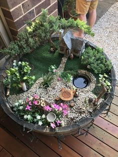 If you are looking for Diy Fairy Garden Design Ideas, You come to the right place. Below are the Diy Fairy Garden Design Ideas. This post about Diy Fairy. Fairy Garden Pots, Indoor Fairy Gardens, Fairy Garden Houses, Gnome Garden, Miniature Fairy Gardens, Meadow Garden, Fairies Garden, Diy Garden, Garden Bed