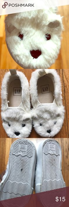 Baby Gap Bear Tennis Sneakers Adorable teddy bear tennis sneakers. Only worn a few times. Runs small. GAP Shoes Sneakers