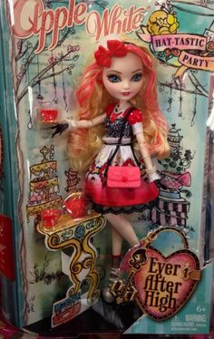 EVER AFTER HIGH HAT TASTIC APPLE WHITE Just RELEASED IN HAND