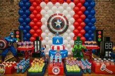 Resultado de imagen para festa infantil capitão america