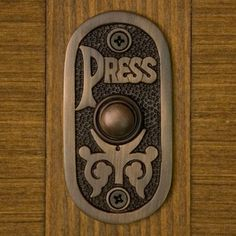 Chesnier Solid Brass Doorbell - in case you forgot how to use a doorbel Polished Brass, Solid Brass, Doorbell Cover, Doorbell Button, Knobs And Knockers, Filigree Design, Home Hardware, Antique Brass, Door Handles