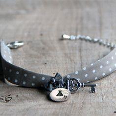 Bracelet liberty cabochon tissu mode paris