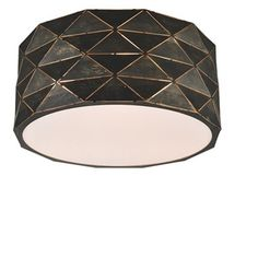 Franklite Tangent Ceiling Light Flush Tangent CF5770 Fitting Modern Black finish light.Tangent Flush in Black brushed Gold Finish, the shade has a gold interior and comes complete with acrylic base diffuser, constructed of multiple triangular shapes which give a subtle lightspill effect. Franklite is one of the UK's leading decorative lighting manufacturers and suppliers. Ceiling Spotlights, Led Ceiling Lights, Decorative Lighting, Gold Interior, Lighting Manufacturers, Light Decorations, Diffuser, Lounge, Base