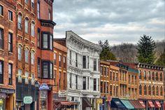 Main Street - Galena, Illinois, USA.