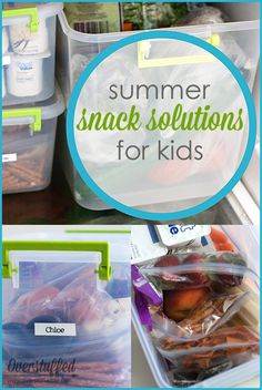 Do your kids eat everything in the house on long summer days? Here is one solution to both help them monitor how much they are eating during summer break and help you save money! #overstuffedlife
