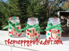 Personalized Polka Dot Mini Jar Candle
