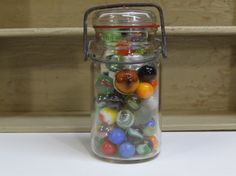 Vintage Marbles Lot in Glass Canning Jar/Shooter's by TheTinRabbit
