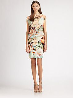 Jean Paul Gaultier Blouson Floral Dress