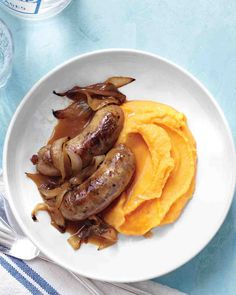 Cider-Glazed Chicken Sausages with Butternut Mash