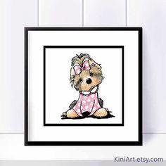 Original art 8 X 8 illustration de race Yorkshire TERRIER chien  Artiste signé & daté art de race chien Yorkshire Terrier ORIGINAL par lartiste contemporain PUP et livre pour enfants auteur/illustrateur, Kim Niles. Créé dans les encres dInde & crayons de couleur sur papier de marqueur artiste professionnel 110 lb.  Taille: 8 « x 8 » Mat et cadre : ceux-ci ne figurent pas dans cette liste. Ils sont montrés pour affichage échantillon seulement.  Informations sur le Copyright : Toutes les…