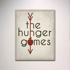 """The Hunger Games Inspired Minimalist Poster 11"""" x 14"""" Print / Typography / Wall Art. $15.00, via Etsy."""