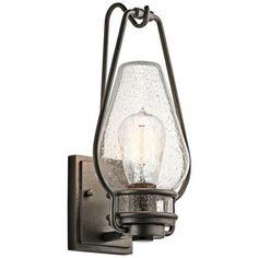 "Kichler Hanford 14 1/2"" High Anvil Iron Outdoor Wall Light - #4N385 | LampsPlus.com"