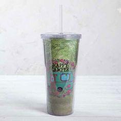 Ποτήρι πλαστικό με καλαμάκι Natural Life