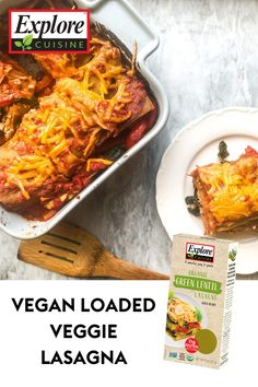 Enjoy a delicious vegan dish with this Loaded Veggie Lasagna recipe! Made with Green Lentil Lasagna stuffed with spinach, marinara sauce and tofu. #veganlasagna #easyvegandinners #greenlentilpenne Veggie Lasagna, Green Lentils, Quick Weeknight Dinners, Marinara Sauce, Vegan Dishes, Tofu, Food Processor Recipes, Spinach, Veggies