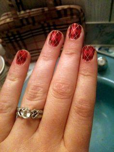 Sally Hansen Nail Strips -  Argyle style