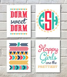Dorm Sweet Dorm Print Collage – now in the shop!