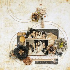 Wedding Girls layout by Delaina Burns using the Cartographer Collection by Frank Garcia.