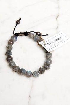 M.Cohen's handmade designs - labradorite skull bracelet.