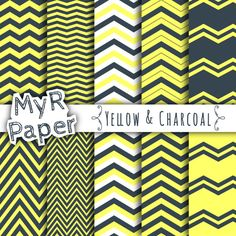 With Love By MyRpaper #scrapbooking #design #graphic #paperdesign #stationery #erincondren #washi #papercraft #etsy Yellow & #Charcoal - 67% OFF #SALE - Paper Digital Color: #Yellow and Charcoal - Giallo e Carbone  HELLO AND WELCOME TO MY SHOP  INSTANT DOWNLOAD  10 digital paper sheets (30,... #patterns #digitalpaper #printable #download #yellow #charcoal #sale #chevron #supplies