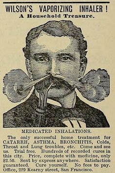 This vaporising inhaler from 1887. | 25 Health Products You'll Be Glad You Don't See Today